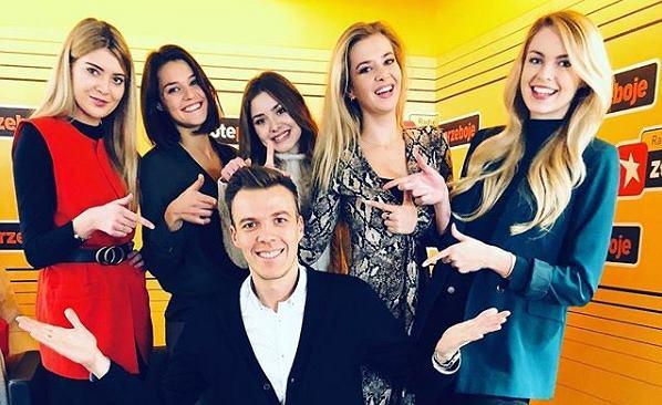 Kamil Baleja w otoczeniu Finalistek Miss Polski 2018