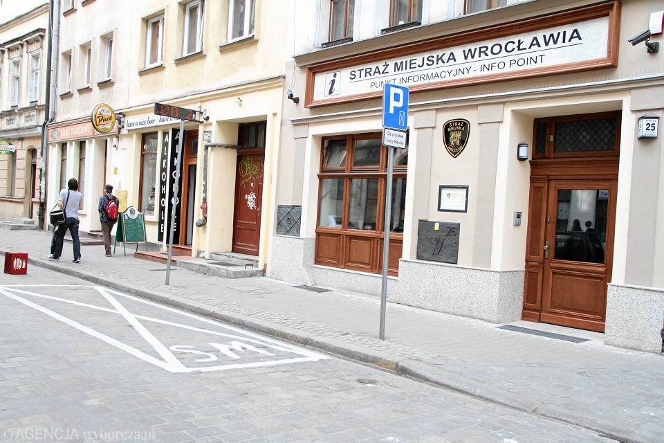 Posterunek straży miejskiej na ul. Św. Antoniego (zdjęcie archiwalne)