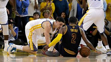 Golden State Warriors - Cleveland Cavaliers 108:100. Klay Thompson i Kyrie Irving