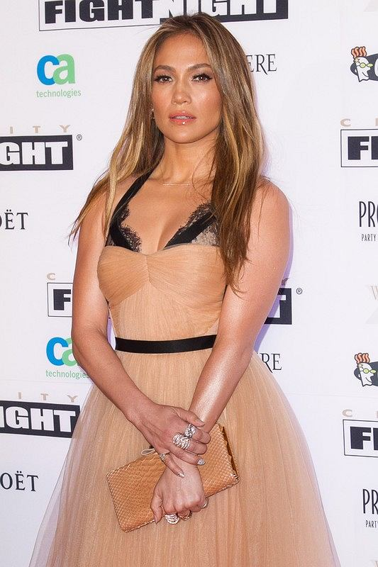 Celebrities attend Celebrity Fight Night XIX at the JW Marriott Desert Ridge Resort and Spa in Phoenix.  Pictured: Jennifer Lopez