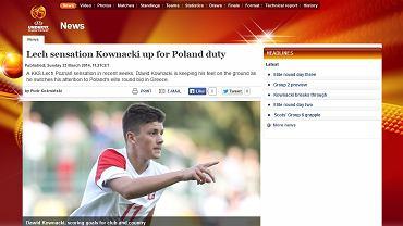 Materiał o Dawidzie Kownackim na www.uefa.com