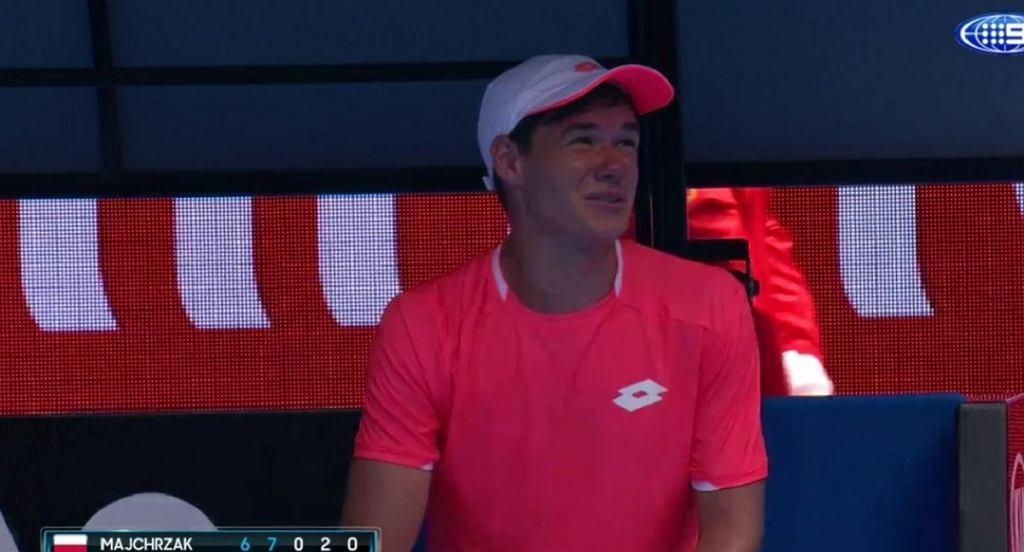 Kamil Majchrzak po przegranym meczu Australian Open