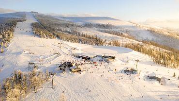 Ośrodek Szczyrk Mountain Resort widziany z lotu ptaka