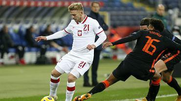 Kamil Jóźwiak w meczu Polska - Holandia (1:2)