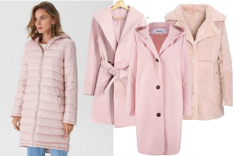 Różowe pastelowe płaszcze
