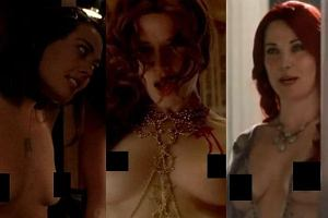 Lizzy Caplan, Valentina Crevi, Lucy Lawless.