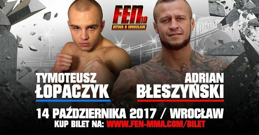 Bilety na FEN 19 'Bitwa o Wrocław' dostępne są na stronie www.fen-mma.com/bilet