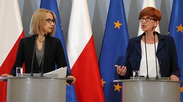Danina solidarnościowa - konferencja minister Teresy Czerwińskiej i minister Elżbiety Rafalskiej