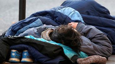 Bezdomny mężczyzna
