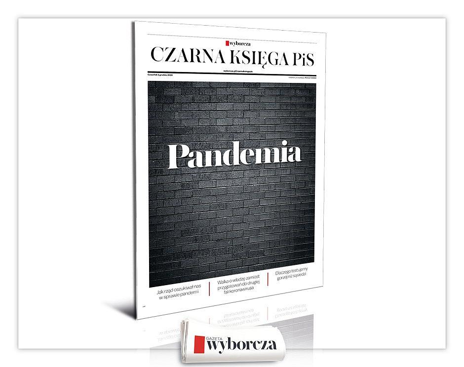 Czarna Księga PiS 'PANDEMIA' we wtorek, 1 grudnia w 'Wyborczej'