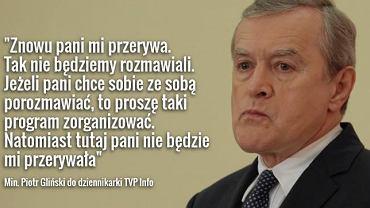 Prof. Piotr Gliński w rozmowie z Karoliną Lewicką w TVP Info