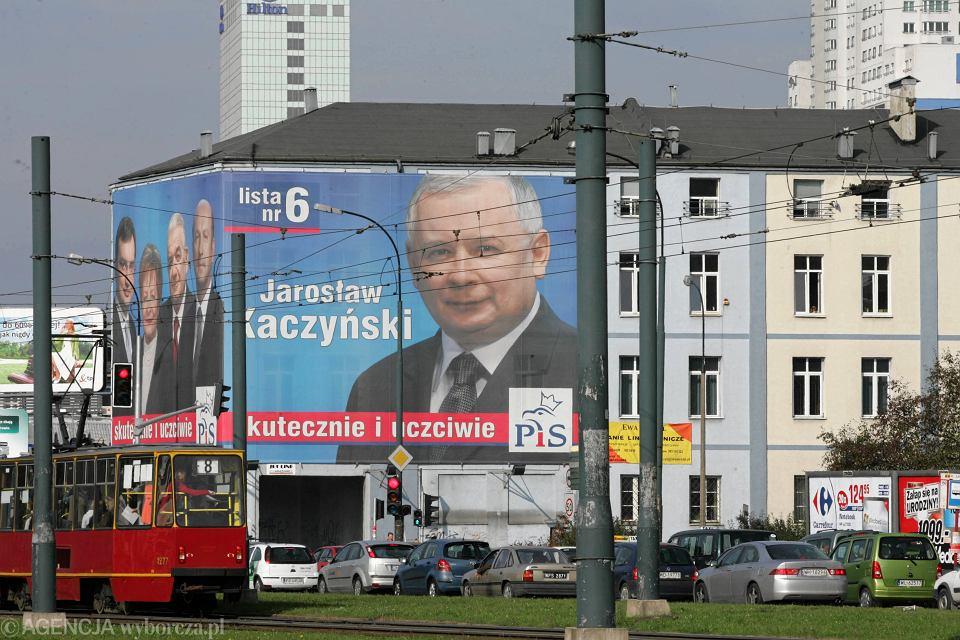 Teren należący do spółki Srebrna, na którym Jarosław Kaczyński chciał wybudować Dwie Wieże. Warszawa, 11 października 2007 r.