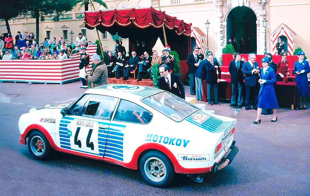 Skoda 130 RS w Rajdzie Monte Carlo 1977