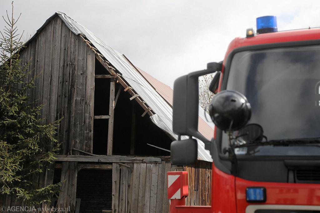 Straż Pożarna usuwa skutki nawałnic w Nowym Targu