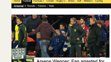 Kibic zaatakował Arsene'a Wengera
