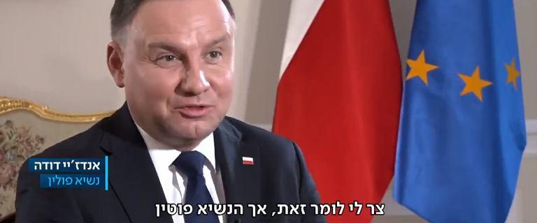 Duda udzielił wywiadu izraelskiej telewizji przed Forum Holokaustu