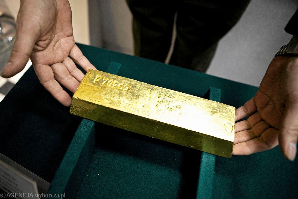 Sztabka złota.