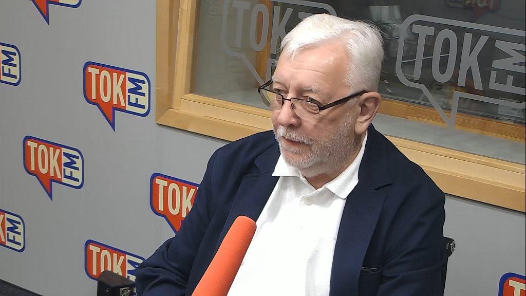 Prof. Jerzy Stępień w studiu TOK FM.