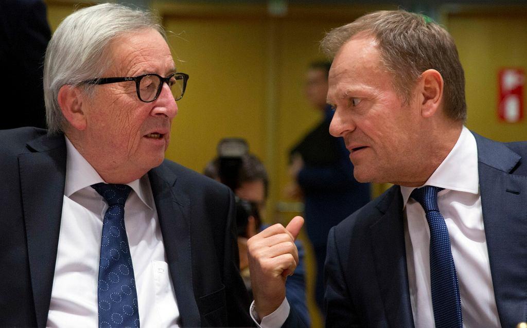Brexit. Donald Tusk i Jean-Claude Juncker