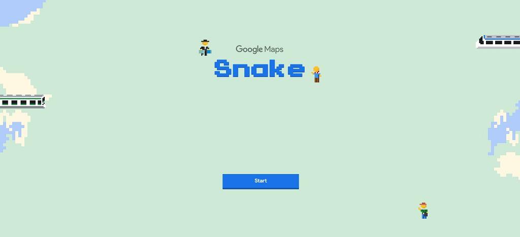 Wąż w Mapach Google