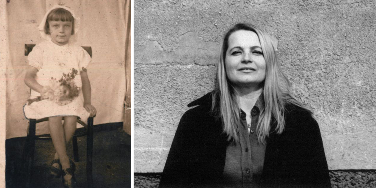 Po lewej: Terenia Ferenc w dniu Matki Boskiej Zielnej. Fotografia wykonana tuż przed wojną; po prawej: Dorosła matka Anny Janko, Teresa Ferenc  (fot. archiwum autorki)