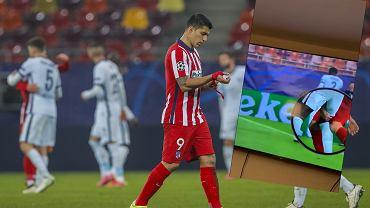 Luis Suarez (Atletico Madryt), uszczypnął Antonio Ruedigera (Chelsea)