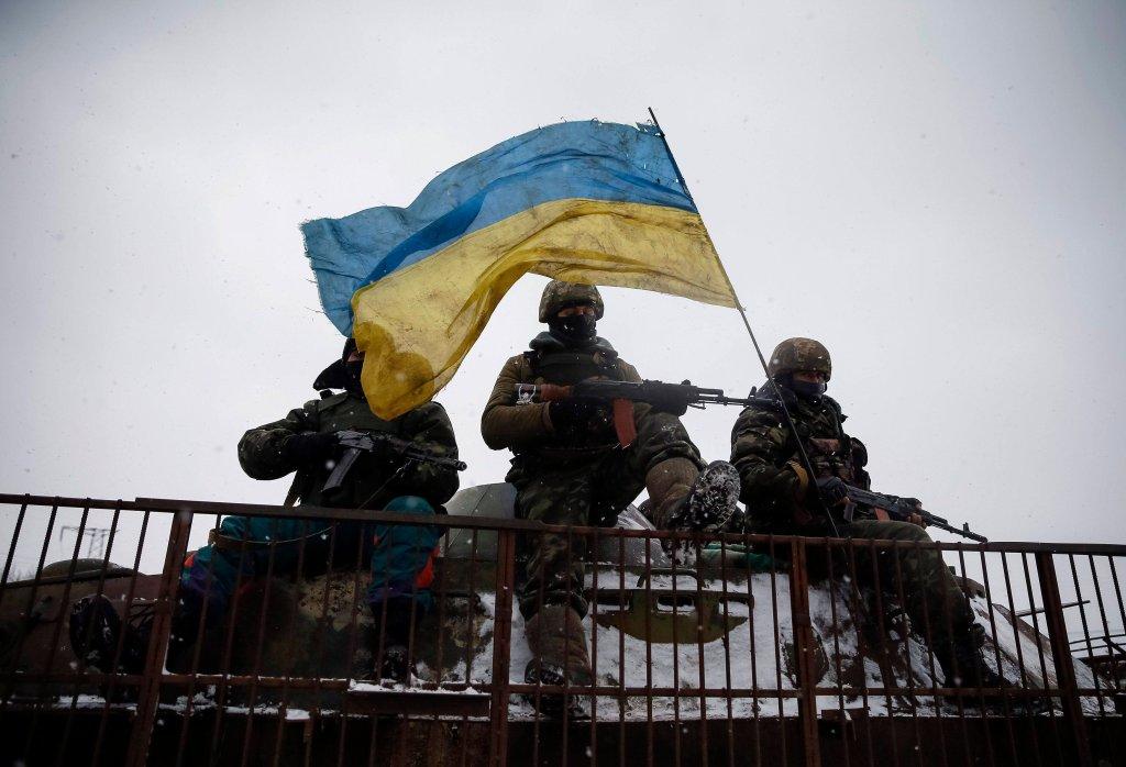 Ukraińscy żołnierze w pobliżu Debalcewe