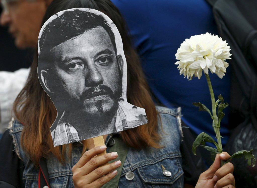 Protest dziennikarzy i aktywistów po morderstwie fotoreportera Rubena Espinosy
