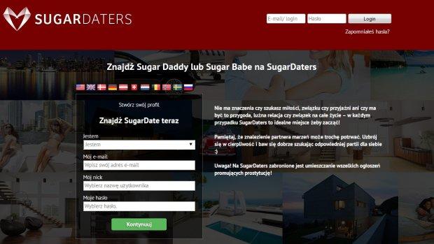Rejestracja w serwisie sugardaters.pl