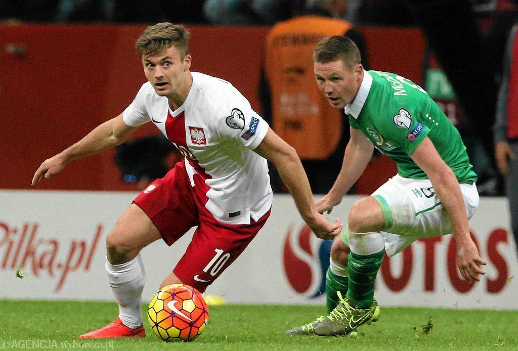 Mecz Polska - Irlandia. Karol Linetty