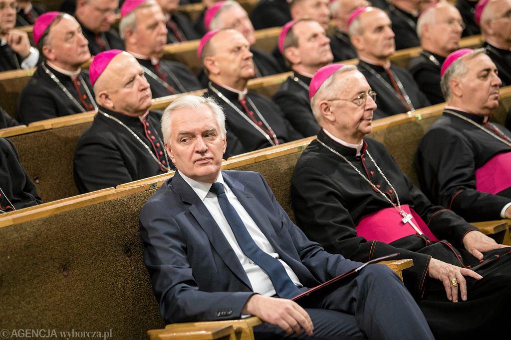 Wicepremier Jarosław Gowin podczas inauguracji roku akademickiego na Katolickim Uniwersytecie Lubelskim, październik 2017