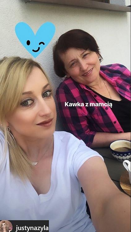 Justyna Żyła z mamą