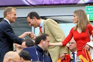 Donald Tusk, Książę Filip, Księżna Letycja.