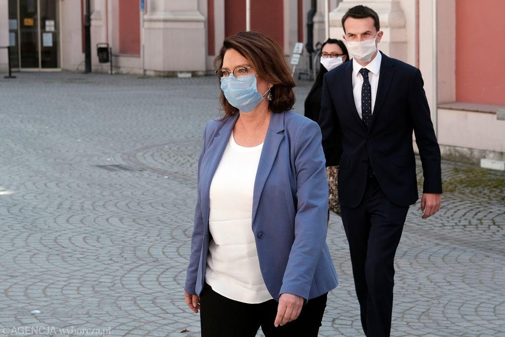 Małgorzata Kidawa-Błońska i Adam Szłapka
