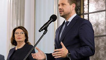 Konferencja w Sejmie, na której ogłoszono, że Rafał Trzaskowski zastąpi Małgorzatę Kidawę-Błońską w roli kandydata na prezydenta RP Koalicji Obywatelskiej