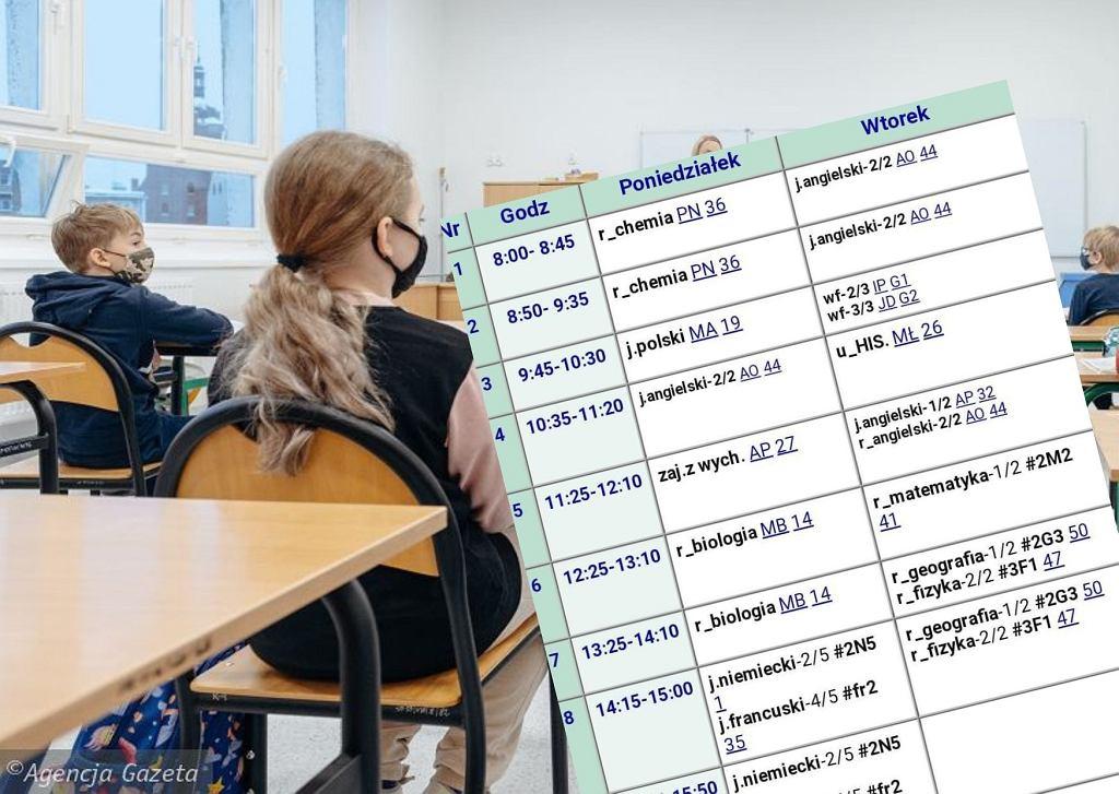 Tak wygląda plan lekcji po powrocie do szkoły. W poniedziałki od 8:00 do 19:10. 'Czy to jest legalne?'