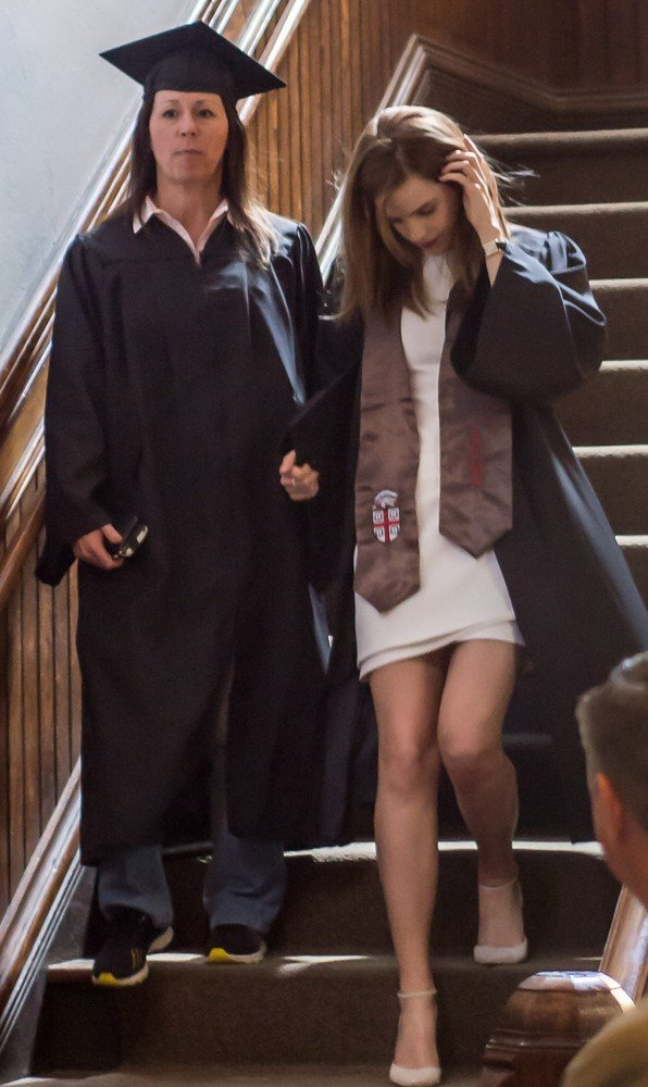 EXCLUSIVE: Actress Emma Watson gets her degree in English Literature as she graduates from Brown University in Providence, Rhode Island.  Pictured: Emma Watson
