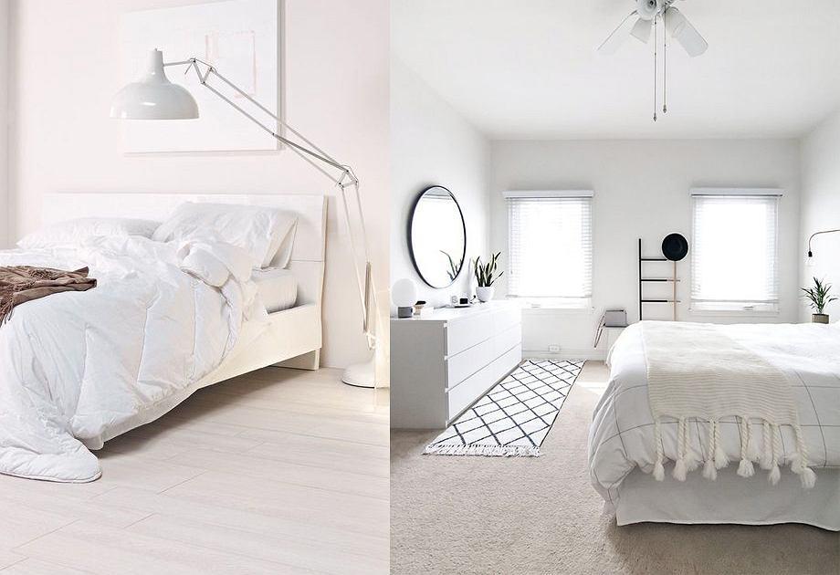 Biała sypialnia - aranżacje