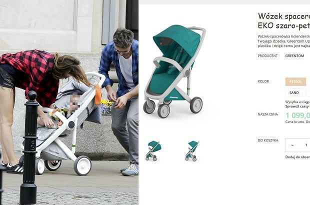 Zdjęcie numer 1 w galerii - Maciej Zakościelny na spacerze z dzieckiem i partnerką. Syn aktora ma piękny wózek. Jest ekologiczny. I NIEDROGI!