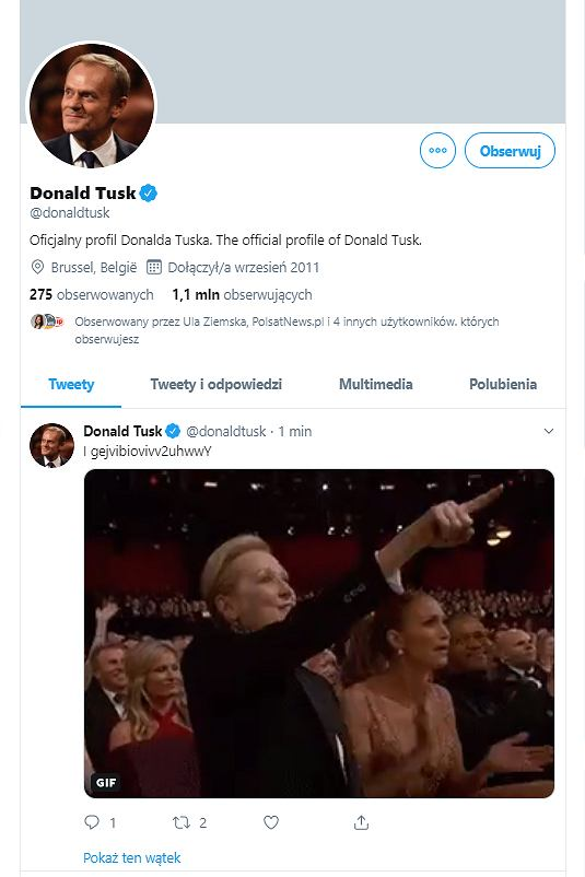 Ktoś włamał się na konto Donalda Tuska na Twitterze