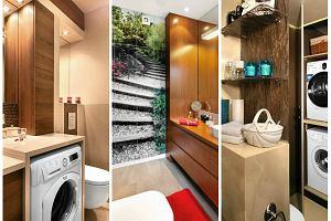 Łazienki pełne schowków