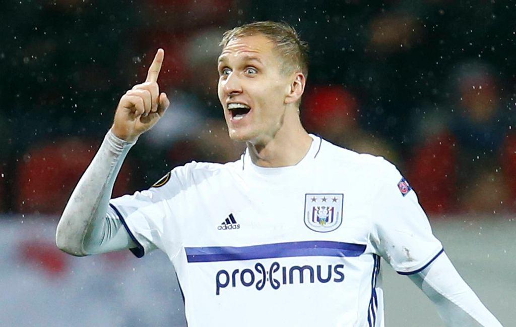 Łukasz Teodorczyk w meczu z FSV Mainz