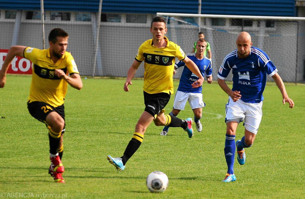 Piłka nożna, I liga. Wisła Płock - GKS Katowice 1:1