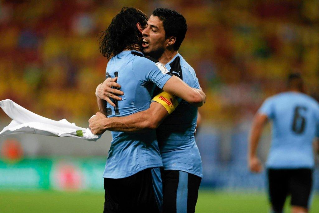 Brazylia - Urugwaj 2:2. Edinson Cavani i Luis Suarez
