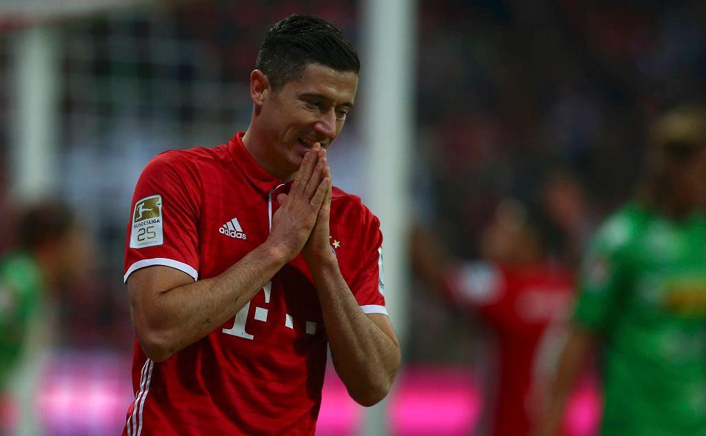 Robert Lewandowski, mecz Bayern - Borussia M.