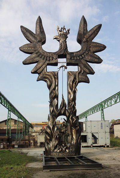 Pomnik 'Rzeź wołyńska'.
