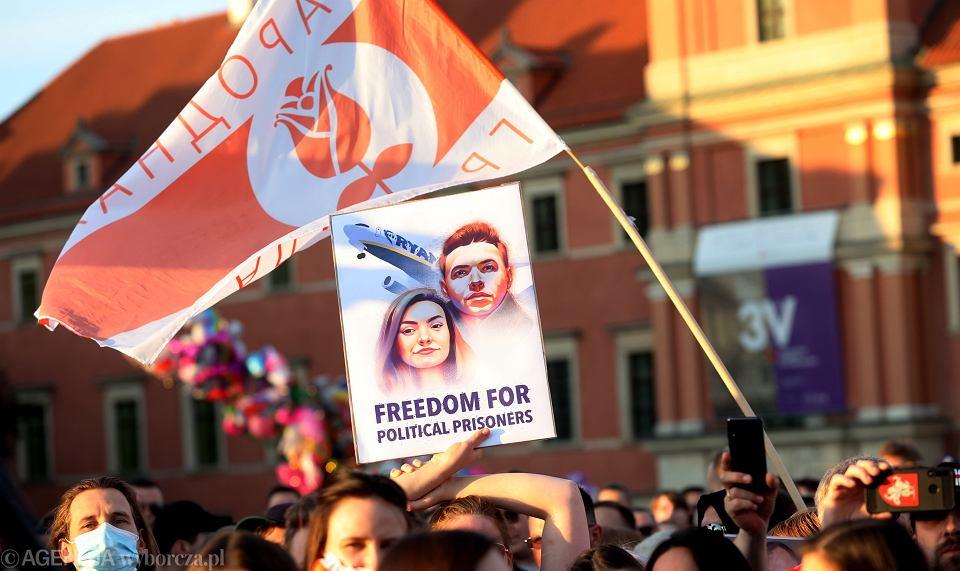 3.06.2021, Warszawa, manifestacja wsparcia dla represjonowanych na Białorusi.