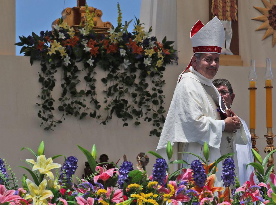Biskup Juan Barros po mszy celebrowanej przez papieża Franciszka w chilijskim Iquique, 30 stycznia 2018 r.