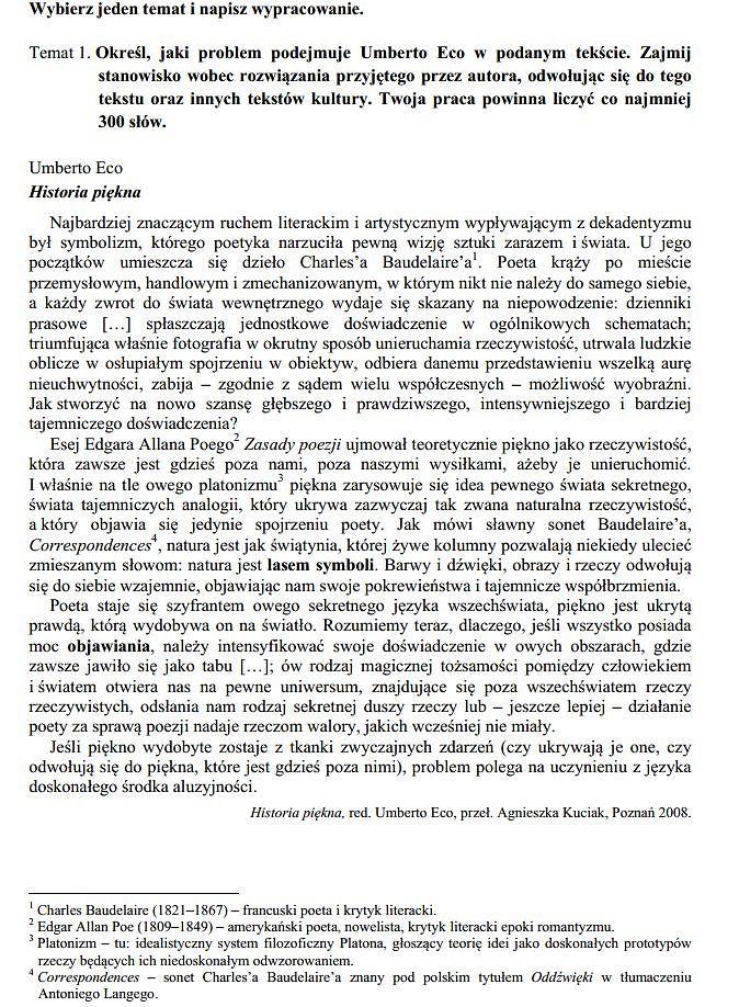 Matura 2015 Język Polski Poziom Rozszerzony Nowa Matura