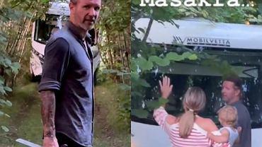 Małgorzata Rozenek i Radosław Majdan w lesie